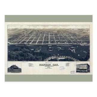Aerial View of Mandan, North Dakota (1883) Postcard