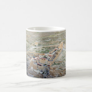 Aerial view of Mar Saba Monastery Coffee Mug