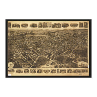 Aerial View of Middletown, New York (1921) Canvas Print