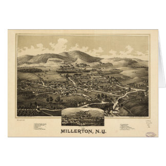 Aerial View of Millerton, New York (1887) Card