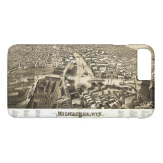 Aerial View of Milwaukee, Wisconsin (1879) iPhone 7 Plus Case