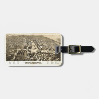 Aerial View of Milwaukee, Wisconsin (1879) Luggage Tag