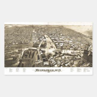 Aerial View of Milwaukee, Wisconsin (1879) Sticker