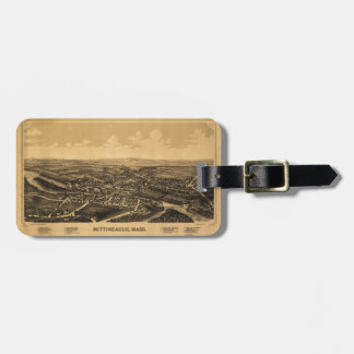 Aerial View of Mittineague, Massachusetts (1889) Luggage Tag