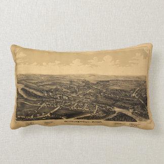 Aerial View of Mittineague, Massachusetts (1889) Lumbar Pillow