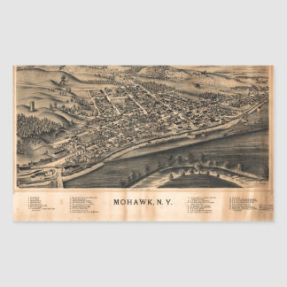 Aerial View of Mohawk, New York (1893) Sticker
