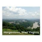 Aerial View of Morgantown WV, Mon River Postcards