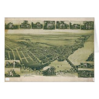 Aerial View of Morrisville, Pennsylvania (1893) Card