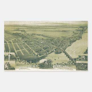 Aerial View of Morrisville, Pennsylvania (1893) Sticker