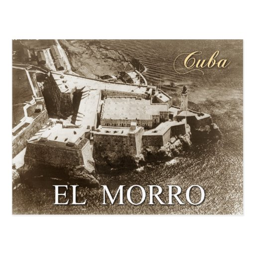 Aerial view of Morro Castle, Havana, Cuba Postcard