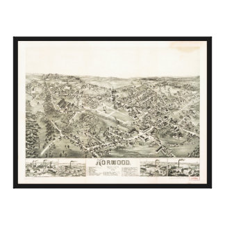 Aerial View of Norwood, Massachusetts (1882) Canvas Print