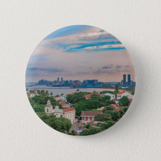Aerial View of Olinda and Recife Pernambuco Brazil 2 Inch Round Button
