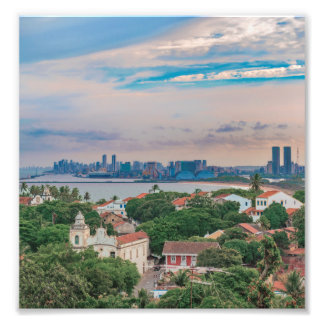 Aerial View of Olinda and Recife Pernambuco Brazil Photo Art