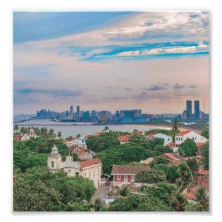 Aerial View of Olinda and Recife Pernambuco Brazil Photo Print