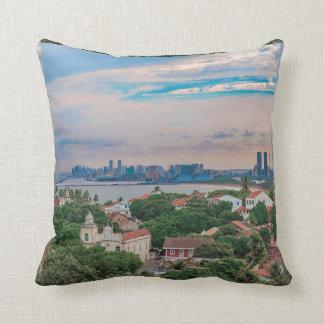 Aerial View of Olinda and Recife Pernambuco Brazil Throw Pillow