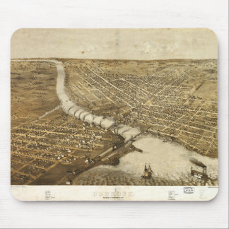 Aerial View of Oshkosh, Wisconsin (1867) Mouse Pad