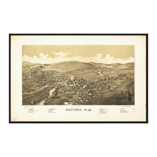 Aerial View of Oxford, New York (1888) Canvas Print