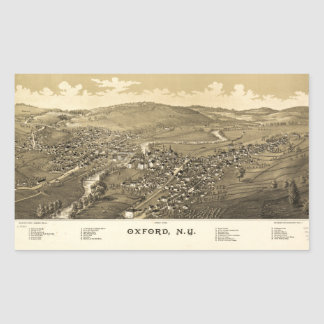 Aerial View of Oxford, New York (1888) Sticker
