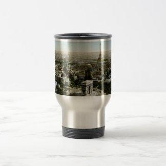 Aerial View of Paris, France Vintage 15 Oz Stainless Steel Travel Mug