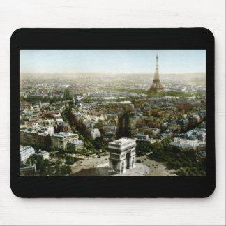 Aerial View of Paris, France Vintage Mouse Pad