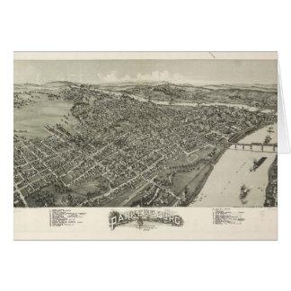 Aerial View of Parkersburg, West Virginia (1899) Card