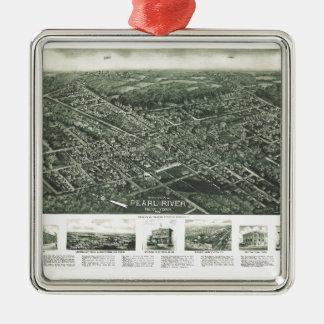 Aerial View of Pearl River, New York (1924) Metal Ornament