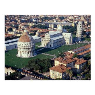 Aerial view of Pisa, Italy Postcard
