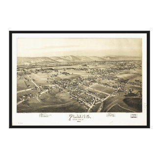 Aerial View of Plains, Pennsylvania (1892) Canvas Print