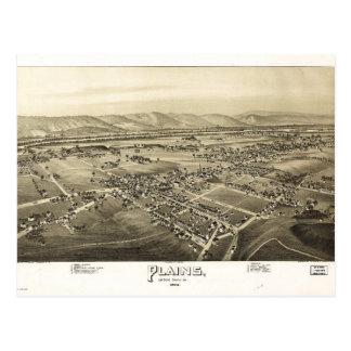 Aerial View of Plains, Pennsylvania (1892) Postcard