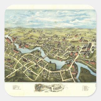 Aerial View of Putnam, Connecticut (1877) Square Sticker