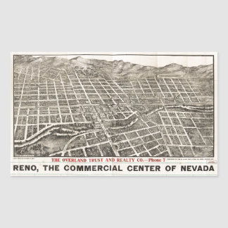Aerial View of Reno, Nevada (1907) Sticker