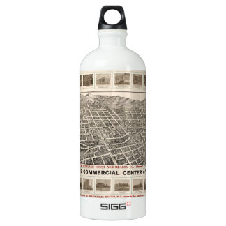 Aerial View of Reno, Nevada (1907) Water Bottle