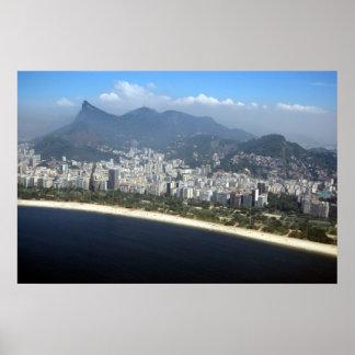 Aerial view of Rio de Janeiro Poster