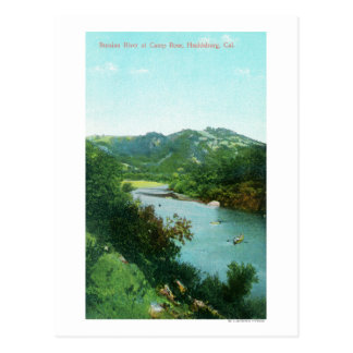 Aerial View of Russian River at Camp Rose Postcard