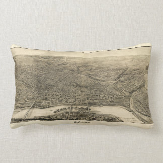 Aerial View of Saint Paul, Minnesota (1906) Lumbar Pillow