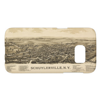 Aerial View of Schuylerville, New York (1889) Samsung Galaxy S7 Case