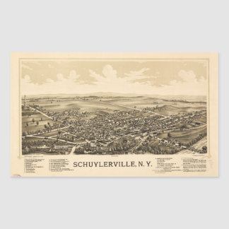 Aerial View of Schuylerville, New York (1889) Sticker