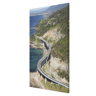 Aerial view of Sea Cliff Bridge near Wollongong, Canvas Print