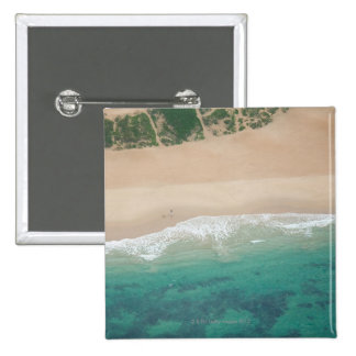 Aerial view of Sea view Beach, Port Elizabeth, 2 Inch Square Button