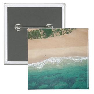 Aerial view of Sea view Beach, Port Elizabeth, 2 Inch Square Button