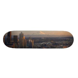 Aerial view of Seattle city skyline 2 Skateboard Decks