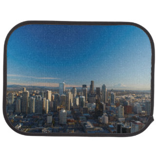 Aerial view of Seattle city skyline Auto Mat
