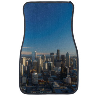 Aerial view of Seattle city skyline Car Carpet