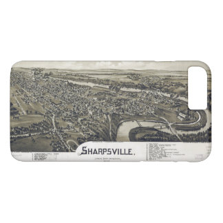 Aerial View of Sharpsville, Pennsylvania (1901) iPhone 8 Plus/7 Plus Case