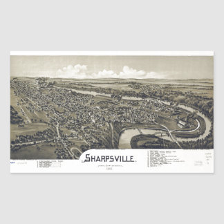 Aerial View of Sharpsville, Pennsylvania (1901) Sticker