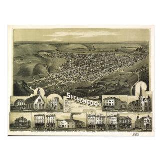 Aerial View of Shenandoah, Pennsylvania (1889) Postcard