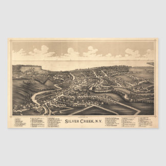Aerial View of Silver Creek, New York (1892)