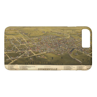 Aerial View of Somerville, New Jersey (1882) iPhone 8 Plus/7 Plus Case