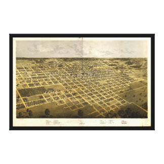 Aerial View of Springfield, Illinois (1867) Canvas Print