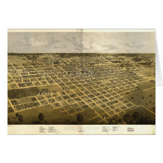 Aerial View of Springfield, Illinois (1867) Card